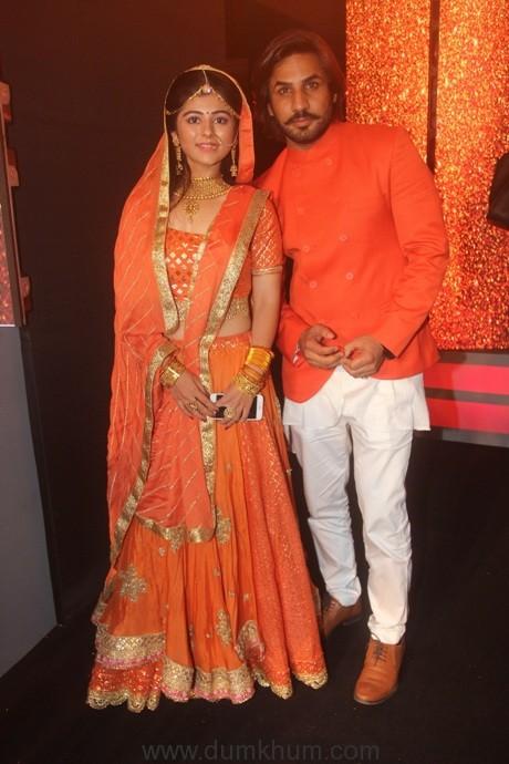 ZEE TV- Lead actosof Jeet Gayi Toh Piyaa Morre Yesha Rughani (Devi) and Krrip Kapur Suri (Adhiraj I