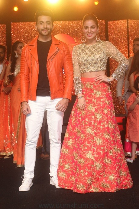 Zee TV - Lead actors of Kundali Bhagya- Dheeraj Dhoophar(Karan) and Shraddha Arya(Preeta) at the25 years celebration of Zee Tv