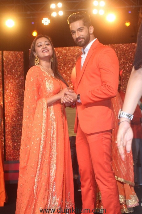 Zee TV- Lead actors of Zindagi Ki Mehek-Samiksha Jaiswal(Mehek) and Karan Vohra (Shaurya) at the 25 years of Zee Tv