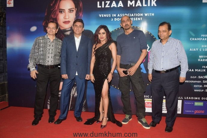 5. Champak jain, Lovel Arora, Lizaa Malik, Ajay Arora and Ramesh Jain during music release of album BABY TERA FRAUD ROMANCE