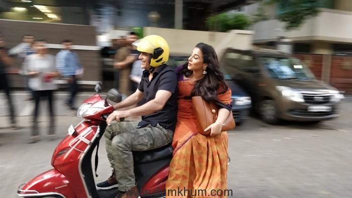Manav Kaul takes Vidya Balan on an impromptu scooter ride!