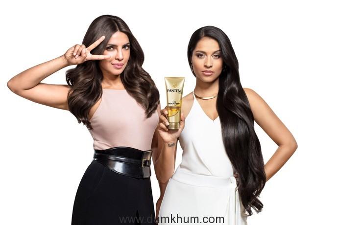 Priyanka Chopra & Lilly Singh launch the New Pantene Oil Replacement