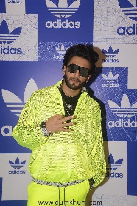 Ranveer Singh at adidas Originals OFDD Store Launch-min