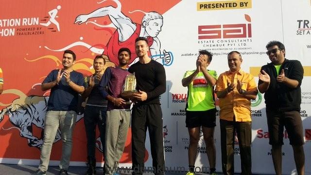 Tiger Sharoff at Sai Celebration