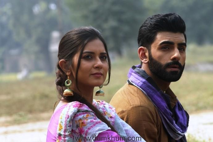 Aakanksha Sareen & Guruvar Cheema on the Set of film 'Dulla Vaily' (1)