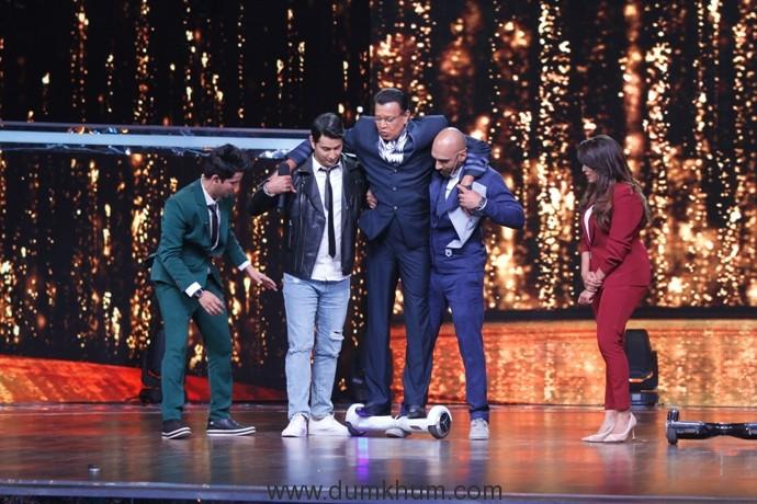 Dance India Danace Season 6 -Grand Master Mithun Chakraborthy with Masters Mudassar Khan, Marzi Pestonji , Mini Pradhan and host Sahi Khattar