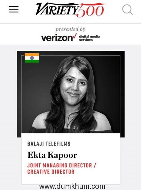 Ekta Kapoor makes it to Variety's '500 Most Influential'!