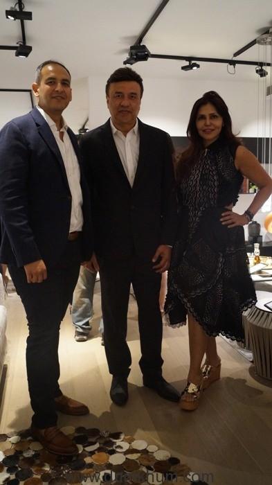 (L-R) Navin Khanna (Director of BoConcept India), Anu Malik & Nisha JamVwal
