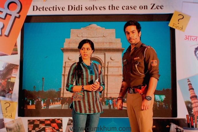 Sonia Balani (Bunty Sharma) and Manish Goplani (Bhim Singh Bhullar) in Zee TV's Detective Didi (1)