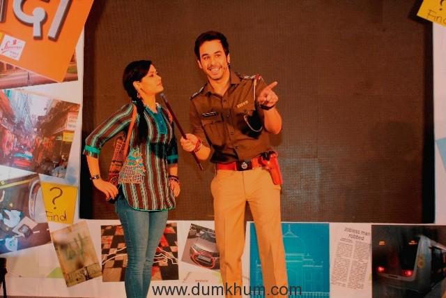 Sonia Balani (Bunty Sharma) and Manish Goplani (Bhim Singh Bhullar) in Zee TV's Detective Didi (2)