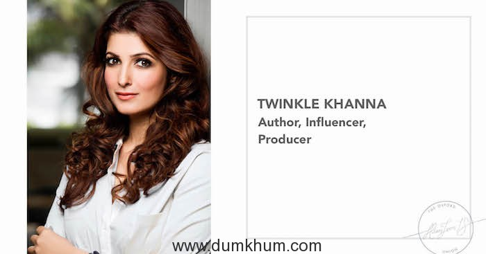 The Oxford Union Invites Author, Influencer & Producer Twinkle Khanna to Address Oxford University Students