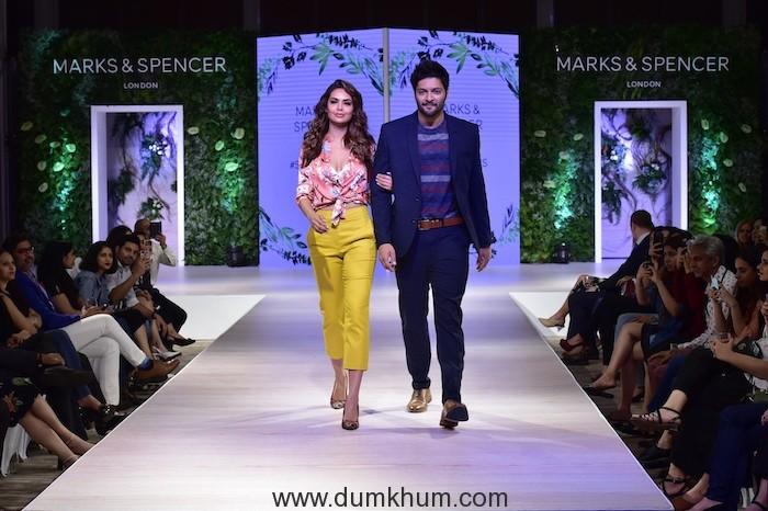 Esha Gupta and Ali Fazal at Marks & Spencer SS 18 Collection Launch