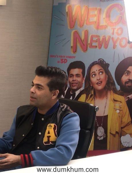 Karan Johar promoting Welcome To New York (3)