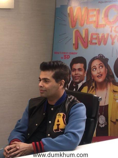 Karan Johar promotes Welcome to New York