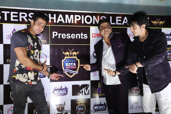 Malhar Pandya, Riyaz Bhati and Zaan Khan Kota Royals Rajasthan at the Launch event (18)