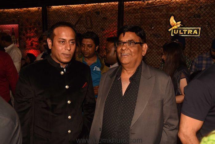 Owner Sarosh Khan with Satish Kaushik