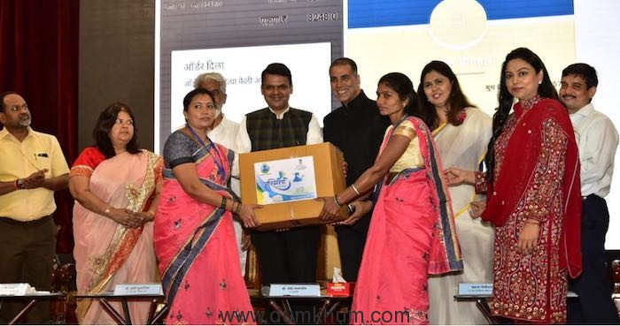 Akshay Kumar and  Chief Minister Devendra Fadnavis announced  the initiative Asmita on Women's Day