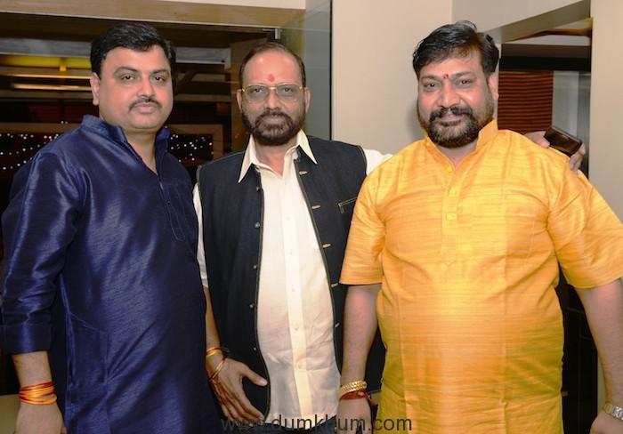 Ashok Dubey,B.N. Tiwari,Gangeshwarlal Shrivastav at Federation of Western India Cine Employees Meeting at Andheri (west), Mumbai