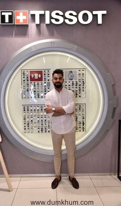 Brand Ambassador Virat Kohli at the New Tissot Boutique at Palladium Mall