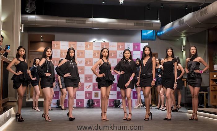 Contestant's during the curtain raiser of MISS FAESINA INDIA 2018