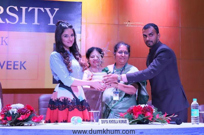 Divya Khosla Kumar rallies audience on female hygiene at She Wings' International Women's Week conference -1