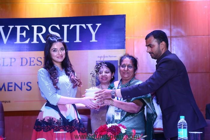 Divya Khosla Kumar rallies audience on female hygiene at She Wings' International Women's Week conference -4