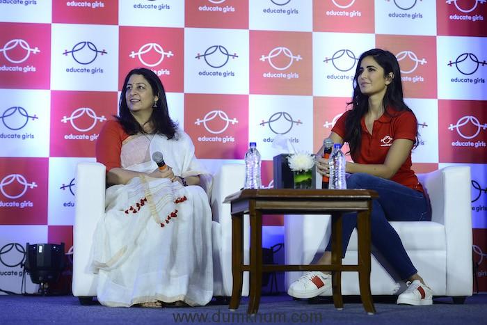 Safeena Husain, Founder,Educate Girls and Katrina Kaif, Ambassador, Educ...