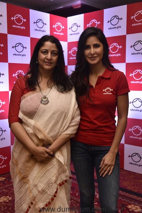 Safeena Husain,Founder,Educate Girls and Katrina Kaif, Ambassador, Educa...