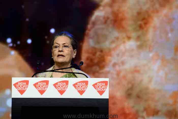 Sonia Gandhi at India Today Conclave (1)