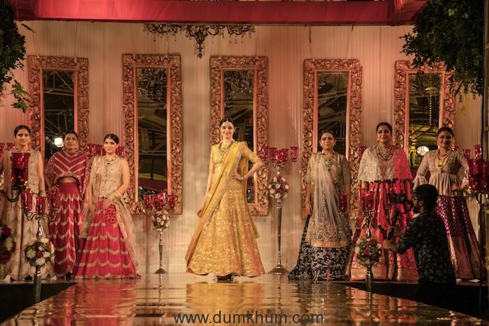 Divya Khosla Kumar walked the ramp for designer Jayanti Reddy-