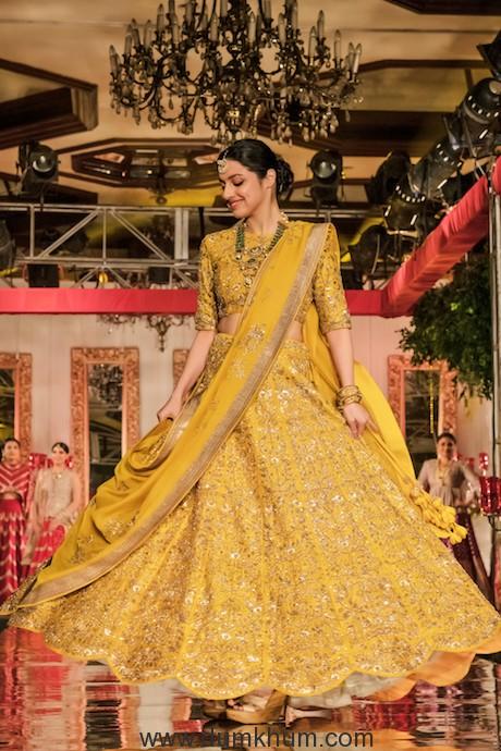 Divya Khosla Kumar walked the ramp for designer Jayanti Reddy