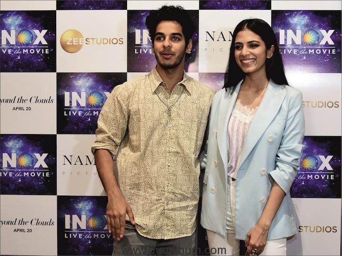 Ishan Khattar and Malavika Mohanan visited INOX INSIGNIA at Atria Mall in Worli