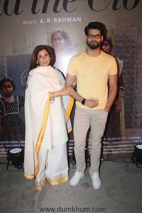 Karan Kapadia with aunt Dimple Kapadia at 'Beyond the Clouds ' screening