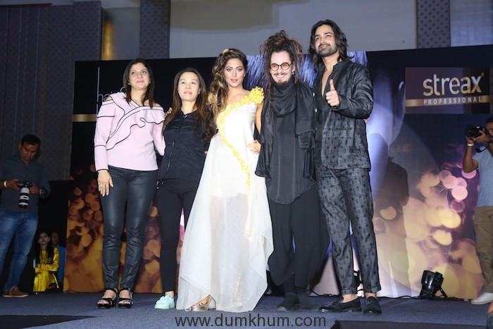 L-R Rochelle Chabra, Agnes Chen, Hina Khan, Jaokim Roos & Amit Ranjan