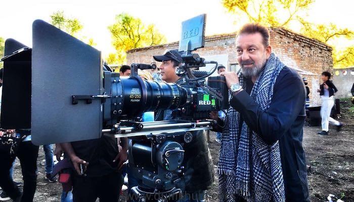 Sanjay Dutt behind the scenes on Torbaaz set!