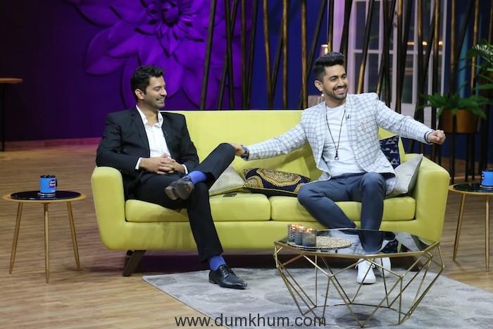 Barun Sobti and Zain Imam on sets of JuzzBatt