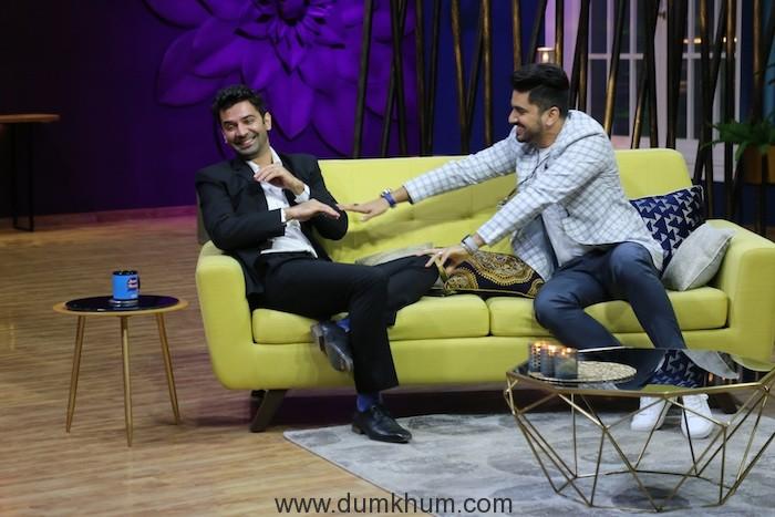 Barun Sobti and Zain Imam on the sets of JuzzBaatt 2