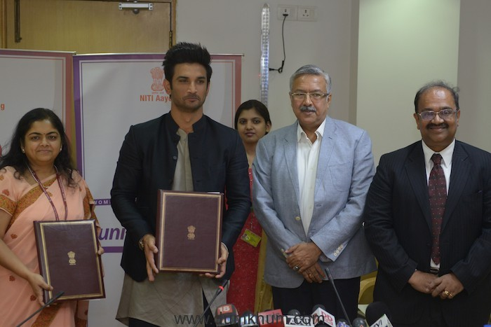 NITI Aayog signs on Sushant Singh Rajput to promote the Women Entrepreneurship Platform (WEP)