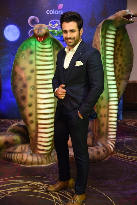 Pearl Puri at the launch of COLORS' Naagin 3