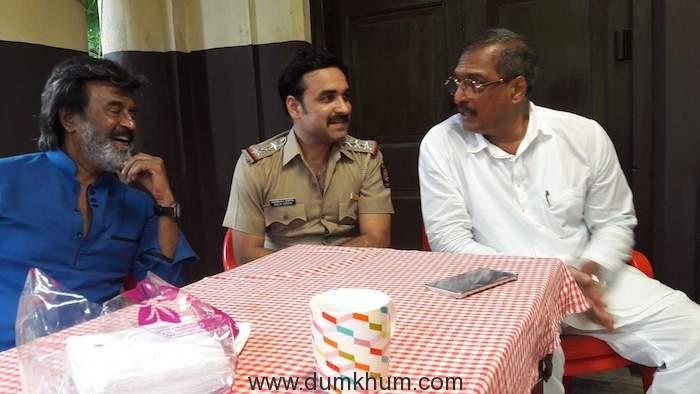 Rajnikanth, Pankaj Tripathi and Nana Patekar, captured having a conversation on the sets of Kaala.
