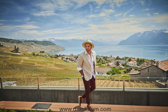 Ranveer Singh visits Lavaux Vineyards the home to Switzerland's best Wines