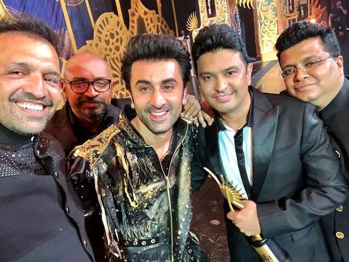 Atul Kasbekar, Saket Chaudhary, Ranbir Kapoor, Bhushan Kumar and Tanuj Garg