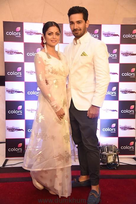 Dharshti Dhami and Abhinav Shukla at the launch of COLORS' SILSILA Badalte rishton ka.