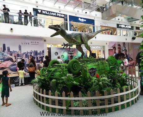 Jurassic World: Fallen Kingdom recreated at Oberoi Mall