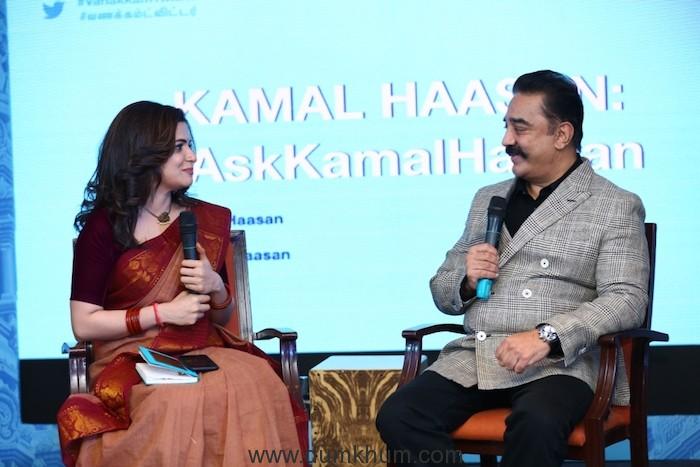 Kamal Haasan & Dhivyadharshini in a conversation at #VanakkamTwitter - 2...