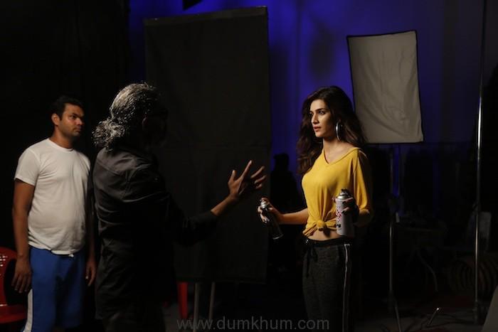 Kriti Sanon poses during the Ms.Taken photoshoot