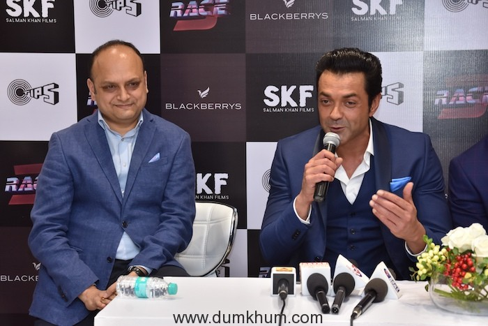 ,Mr. Nikhil Mohan (L) Director at Blackberrys with Bobby Deol ,