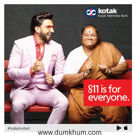 "Ranveer Singh features in  811 ""#IndiaInvited"" Campaign Champions Inclusive Banking !"