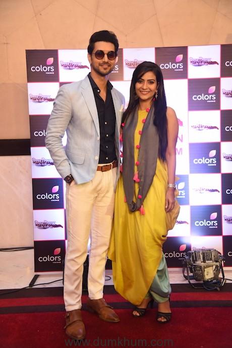 Shakti Arora & Aditi Sharma at the launch of COLORS' SILSILA Badalte rishton ka