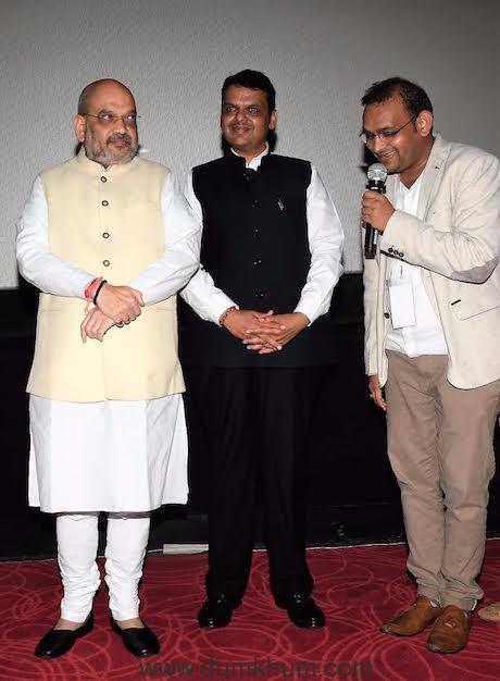 Amit Shah (National President BJP) and Devendra Fadnavis - Mahavir Jain